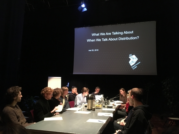What are we talking about when we talk about distribution?, de Brakke Grond, Amsterdam, 20 May 2019, with Karina Beumer, Brenda Tempelaar, Remco Torenbosch and Tirdad Zolghadr; initiated by Peter Lemmens and Laurens Otto; coordinated by Timo Demollin,
